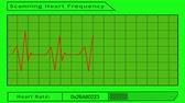 frequent : scanning heart frequency - green screen Stock Footage