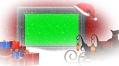 value : christmas animation - green screen Stock Footage