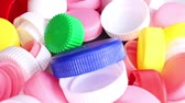 royalty free movie : Platsic caps PET bottle cap pollution collect