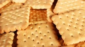 ilustrado : Tea biscuits butter biscuit texture pattern closeup Stock Footage