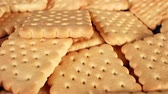 Tea biscuits butter biscuit texture pattern closeup Vídeos