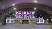 namiot : Circo Medrano entrance with ticket booth. Illuminated sign of famous Medrano Circus, during 84rth Thessaloniki Greece International Fair.