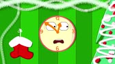 怖がって : A watch on which time is fleeting. New Year mood and waiting for Christmas. Loop video animation cartoon