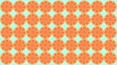 meze : Animation of oranges twirling motion graphics in bright red orange style.