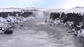 solitário : Icelandic landscape with waterfall Stock Footage
