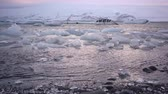 ice block : Icelandic landscape with seashore