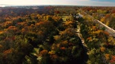осень : Autumn in New York, Long Island as seen by drone