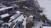 lancaster : Aerial View of an Amish Winter Mud Sale in the Mud Stock Footage