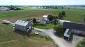 лошадиный : Aerial View of Amish Farm and Countryside