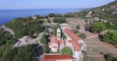 tényleges : Aerial view of Rezevici Monastery a Serbian Orthodox monastery located in Katun Rezevici village between Budva and Petrovac in modern day Montenegro.