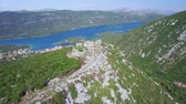 saltworks : aerial view of salt producing town of Ston