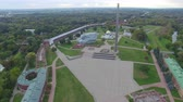 statue : Aerial view of Brest fortress Stock Footage