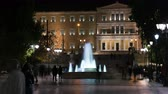 syntagma square at night, athens, greece Dostupné videozáznamy