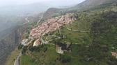 Aerial view of modern Delphi town, near archaeological site of ancient Delphi