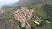 santuário : Aerial view of modern Delphi town, near archaeological site of ancient Delphi