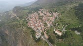 mramor : Aerial view of modern Delphi town, near archaeological site of ancient Delphi