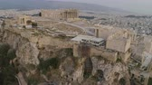 athény : Aerial view of Acropolis of Athens ancient citadel in Greece