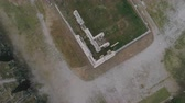 athény : aerial view of Temple of Zeus at Olympia in Athens and modern part of the city Dostupné videozáznamy