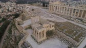 akropol : Aerial view of Acropolis of Athens ancient citadel in Greece