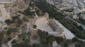 akropol : Aerial view of Odeon of Herodes Atticus and Acropolis of Athens ancient citadel in Greece