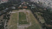 aerial view of Temple of Zeus at Olympia in Athens and modern part of the city Dostupné videozáznamy