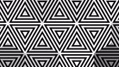 negrito : Hypnotic rhythmic movement of geometric black and white shapes Archivo de Video