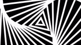 párhuzamos : Hypnotic rhythmic movement of geometric black and white shapes Stock mozgókép