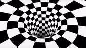 texturált : VJ infinite looped checkerboard tunnel Stock mozgókép
