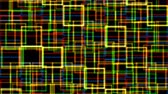 Animation of multicolored glowing rectangles Vídeos