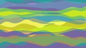 flat animation with stripe wave