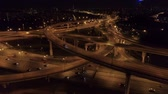 opstopping : aerial view of the road junction in Moscow at night