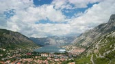 horgony : day view of the bay of Kotor in Montenegro