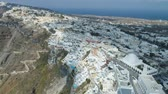 греческий : Aerial view of famous Greek resort Thira. Стоковые видеозаписи