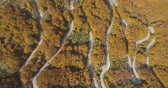 sarma : autumn mountain road view from above
