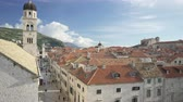 ドゥブロブニク : Main street Stradun of Dubrovnik on sunny day view from the city wall