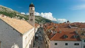 ドゥブロブニク : View on Stradun Street from Dubrovnik City Walls, Croatia 動画素材