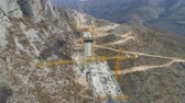 Construction of bridge of a new highway through the Moraca canyon in Montenegro Vídeos