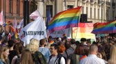 oposicion : Wroclaw Poland 6.10.2018 The March of Equality. LGBTQ Gay Pride Parade