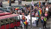 平等 : Wroclaw Poland 6.10.2018 The March of Equality. LGBTQ Gay Pride Parade