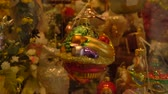 viyana : Beautiful hand made chrismas tree decoration view thru window closeup