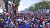 arrasto : Champs Elysees Avenue in Paris in France after the 2018 World Cup