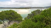 Merimbula beach with its white sand and turquoise sea in Australia Dostupné videozáznamy
