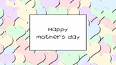 carte d amour : Happy mother s day love card with Pastel hearts as a background, zoom in