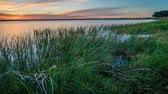 yok : Lake Corangamite at sunset in Victoria state in Australia, zoom in