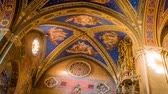 goth : Sant Ignazio Church painted ceilings by painter Andrea Pozzo in Rome, zoom in