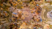絵画 : Sant Ignazio Church paintings by painter Andrea Pozzo in Rome, zoom in