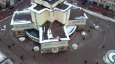 frankivsk : Aerial view of Ivano Frankivsk city, Ukraine. Old historical buildings of european town.