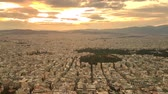 athény : Sunset in Athens in Greece. View from the top. Dostupné videozáznamy
