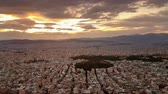 tőke : Beautiful sunset in Athens in Greece. View from Lycabettus.