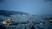 греческий : Night view of Athens in Greece. View from the top.
